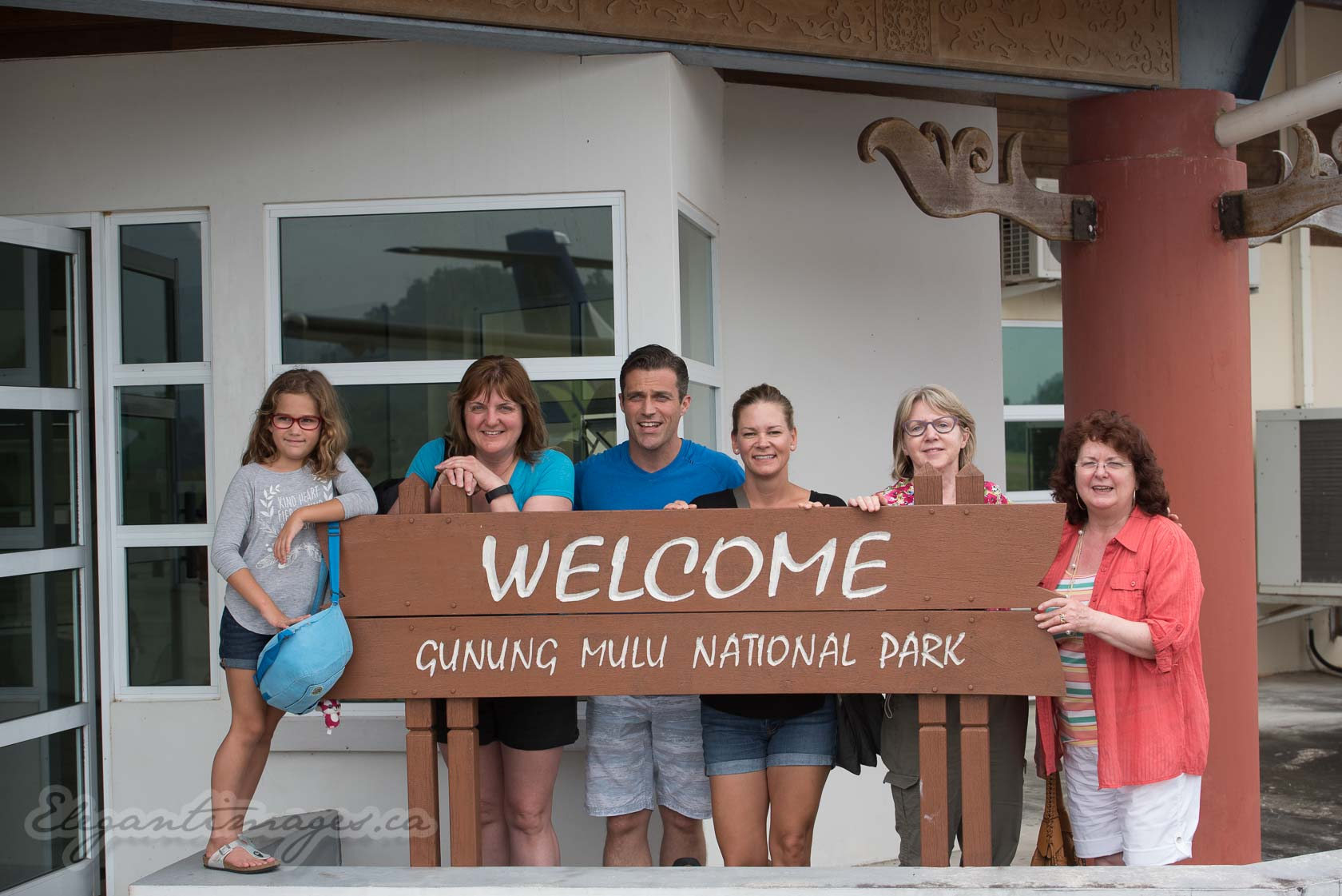 Gunung Mulu National Park-Welcome sign at airport