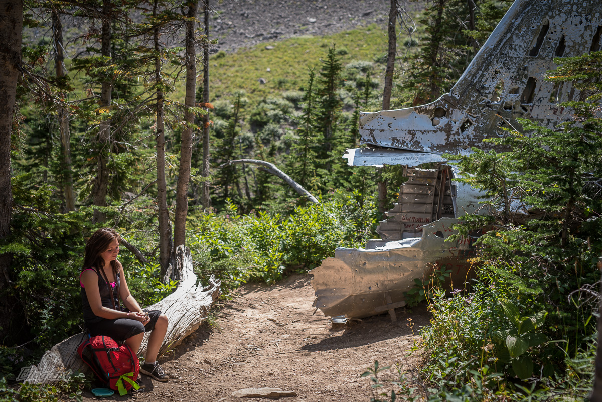 Coleman Alberta Plane Crash Hike