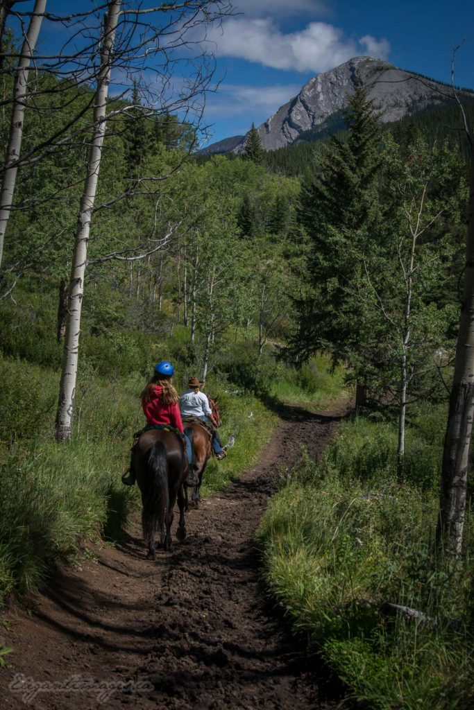 Eagle Lake Hike-riders on horseback