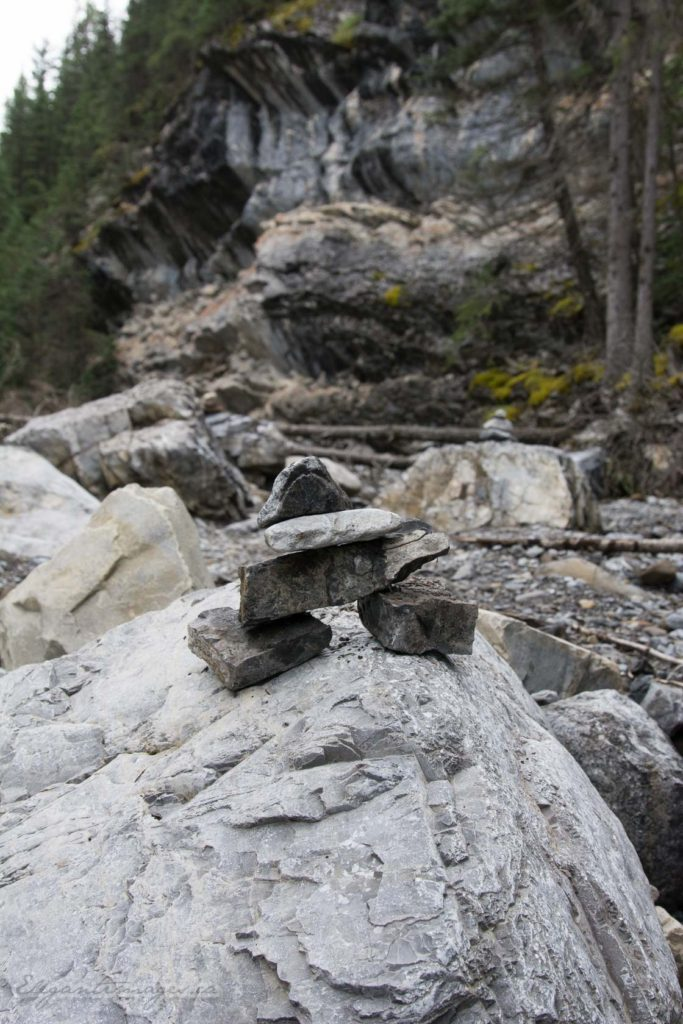 Heart Creek Canyon-mini Inukshuk