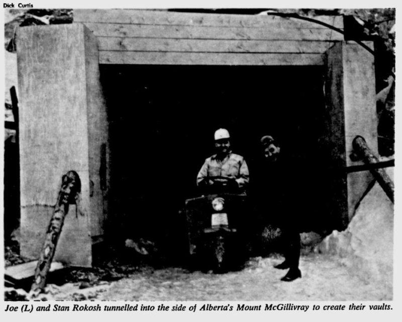Newspaper clipping for the vault mount mcgillivray cave