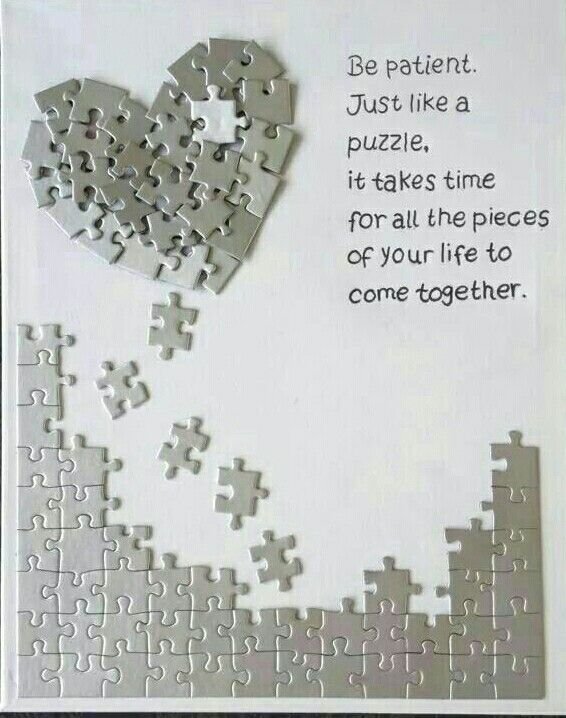 It takes time for the pieces to fall into place