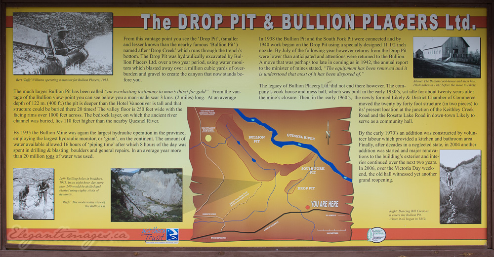 Bullion pit info sign