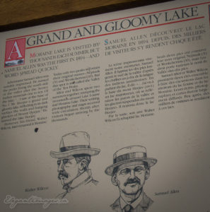 History of moraine lake
