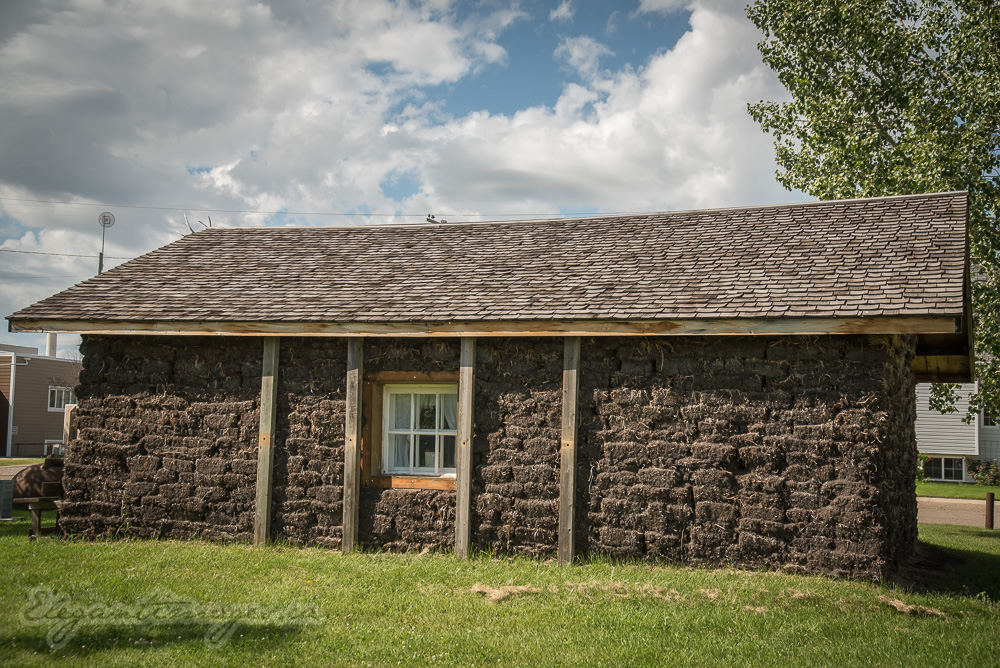 Sod house in Morrin alberta