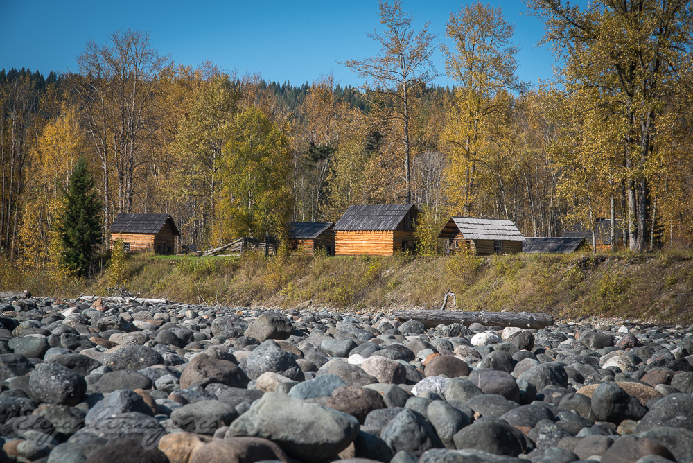 Log cabins in Quesnel Forks