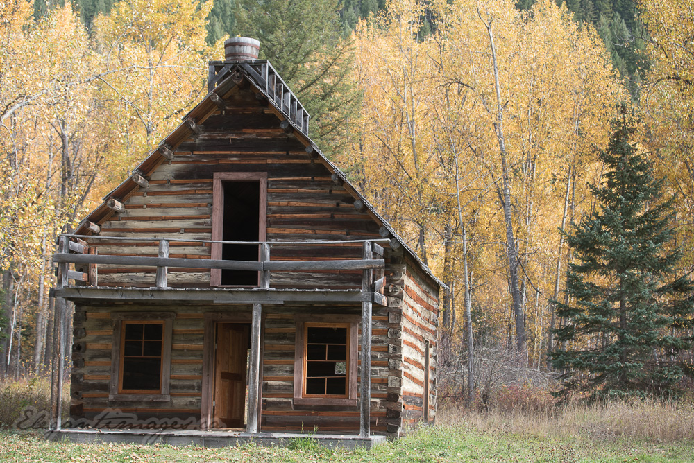 Log cabin Quesnel Forks