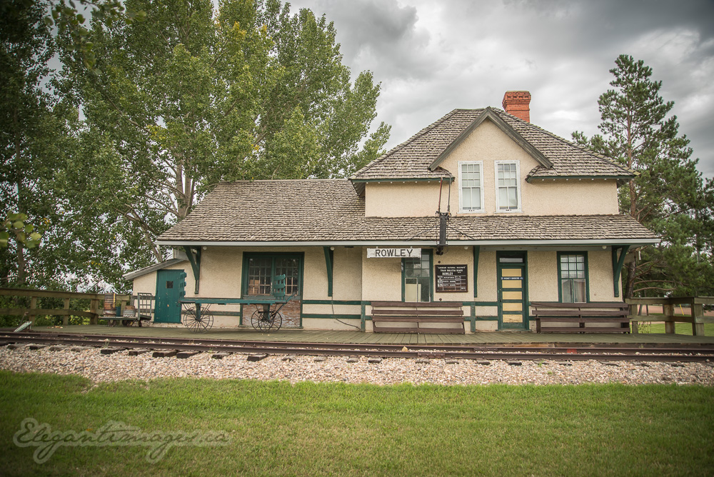 Rowley alberta train station