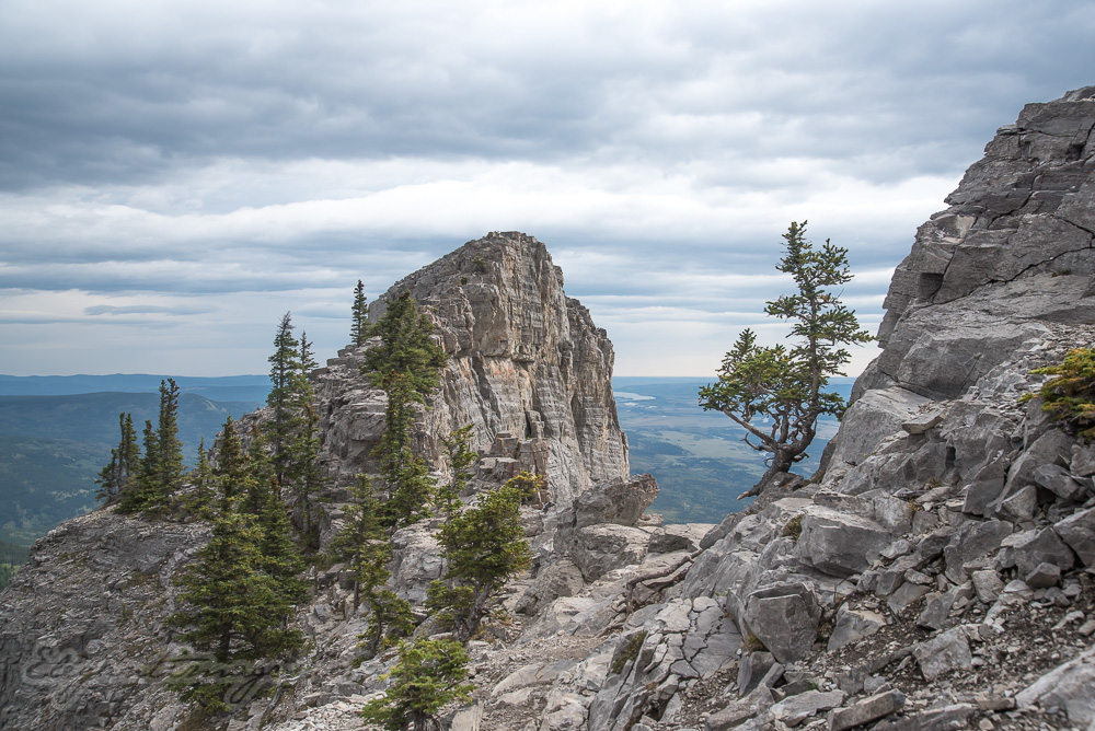 False summit on Yamnuska