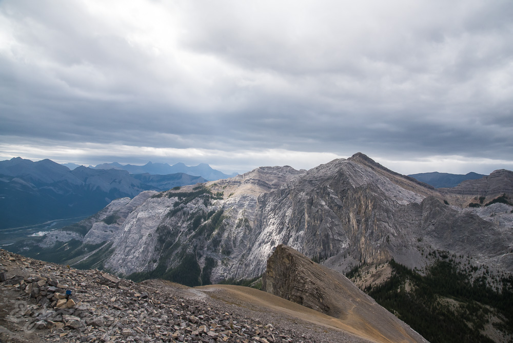 View from the top of Yamnuska mountain
