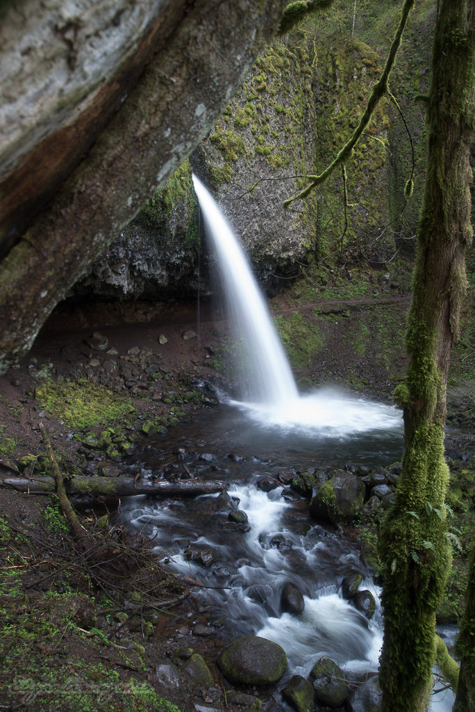Ponytail falls looking west