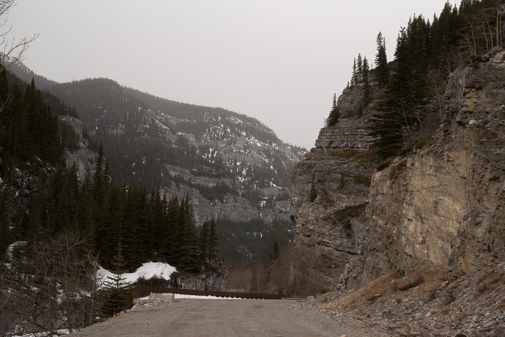 Service Road you walk for 7 KM to Kananaskis Ice Cave or Canyon Creek Ice Cave